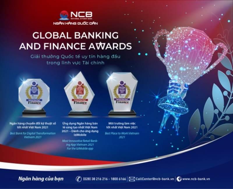 Giải thưởng nổi bật của ngân hàng NCB
